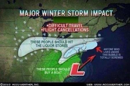 Winter Storm Nemo liquor store weather map