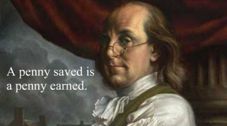 a-penny-saved-is-a-penny-earned-benjamin-franklin