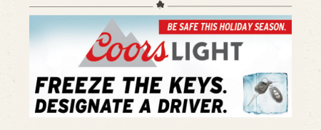 Coors Holiday Add DD