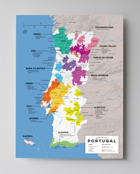 10-12x16-Portugal-wine-map-Franklin-liquors